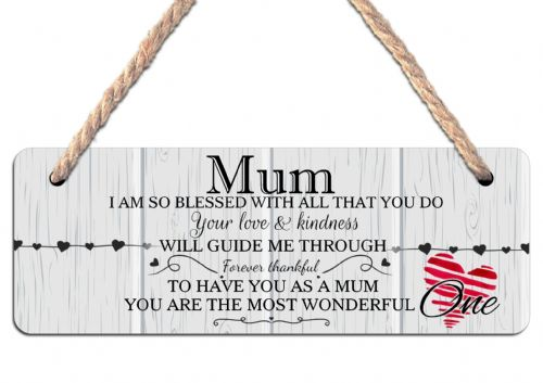 MUM Hanging Sign N16 Wall or Door Plaque
